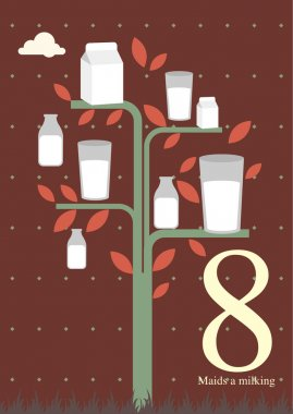 Eight day of Christmas - Eight maids a milking