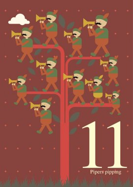 Eleventh day of Christmas - eleven pipers pipping