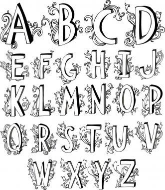 Victorian font