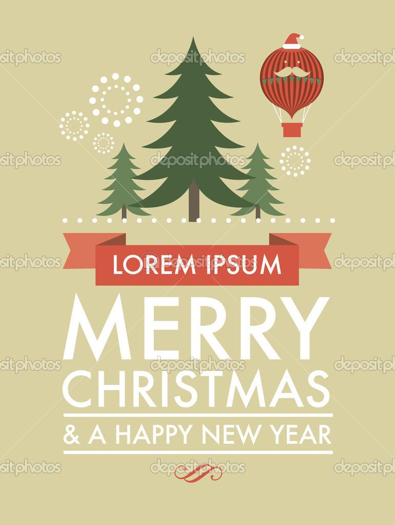 christmas tree template stock vector nglyeyee 45227387