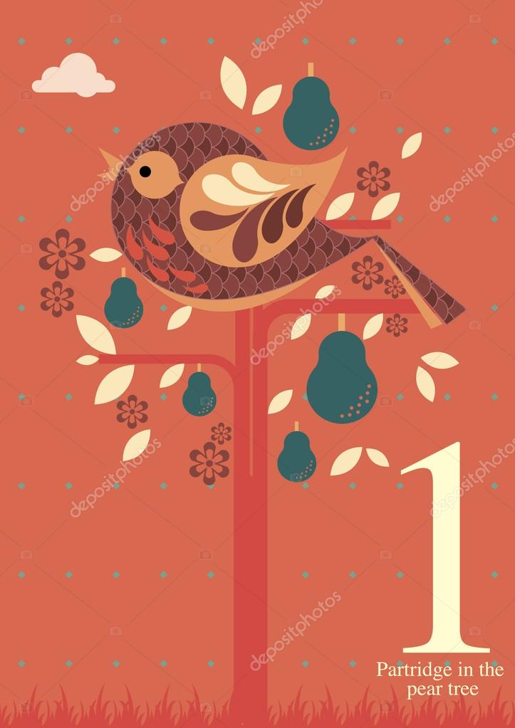 First day of Christmas- A partridge in the pear tree