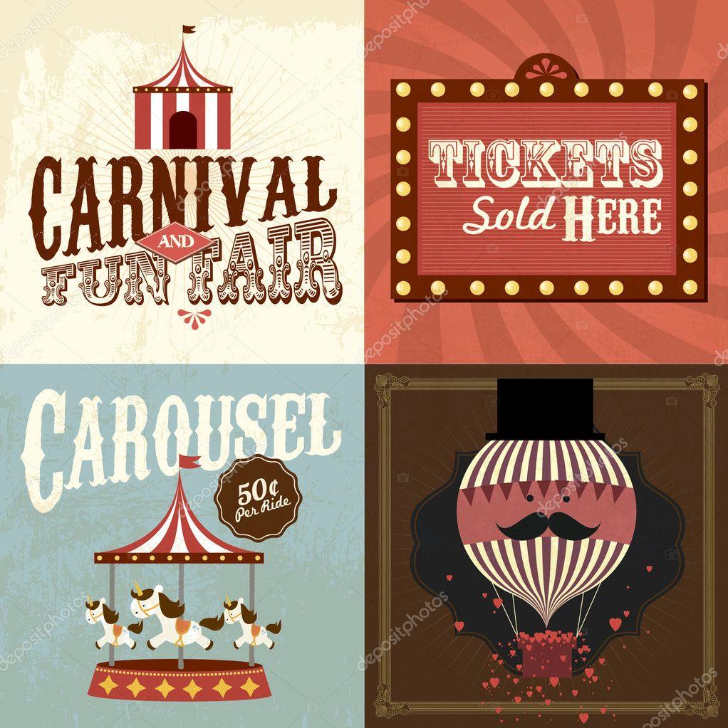 Vintage Carnival Stock Vector