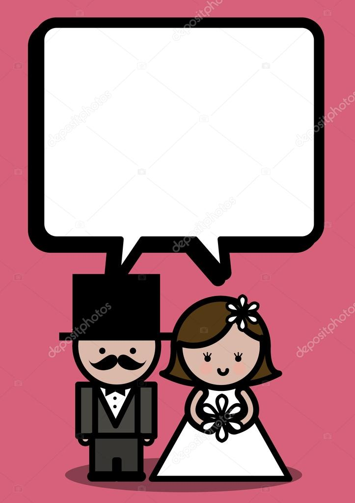 Wedding invitation card speech bubble — Stock Vector © nglyeyee ...