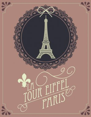 Vintage eiffel tower template