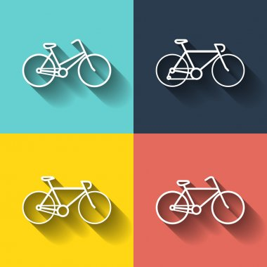 Bicycles pictograms