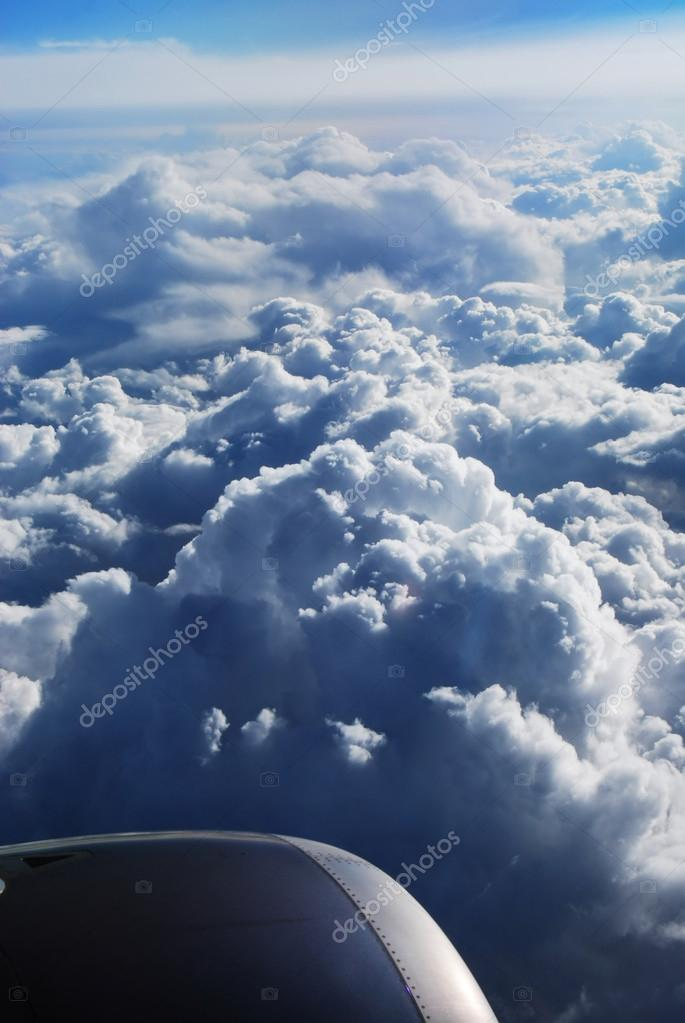 Sky from aeroplane