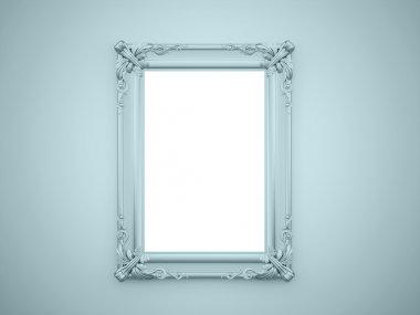Mirror frame vintage rendered