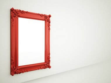Red mirror frame rendered