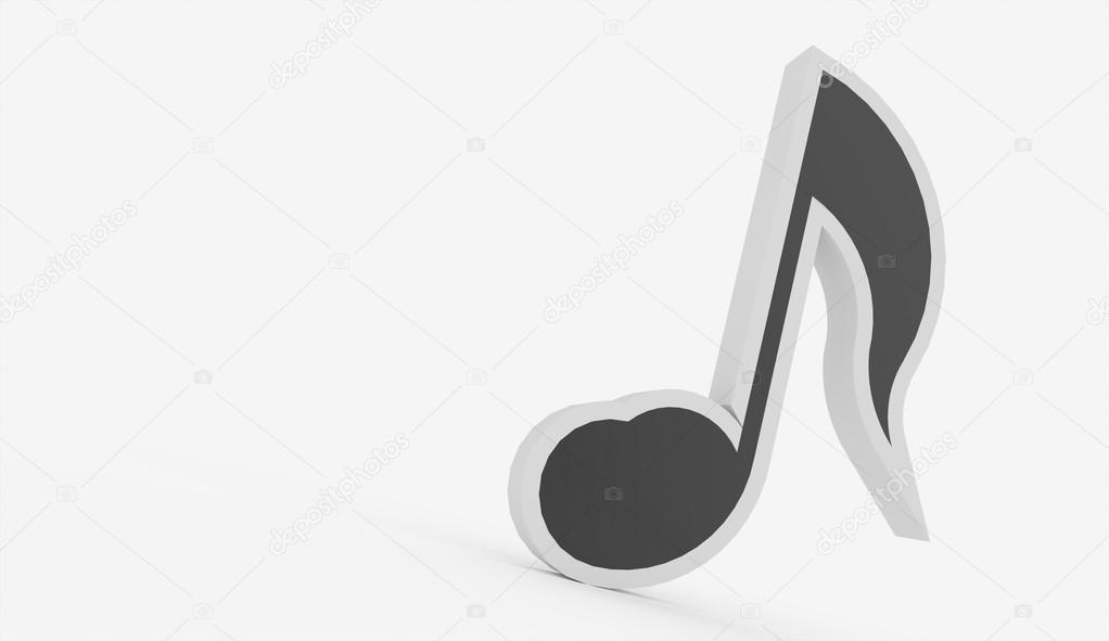 Noir Et Blanc Concept 3d Note De Musique Photographie Pupes