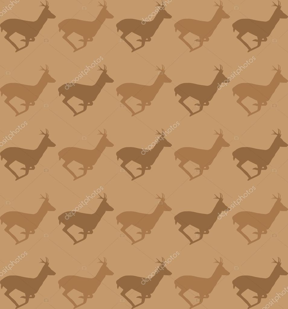 pattern of running deer silhouette stock vector 50898661