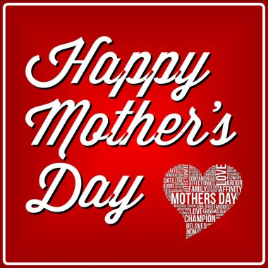 Mothers day illustration word cloud concept in vector