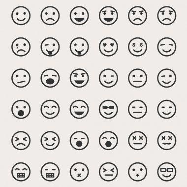 Emoticons Vector Set