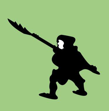 Warrior silhouette