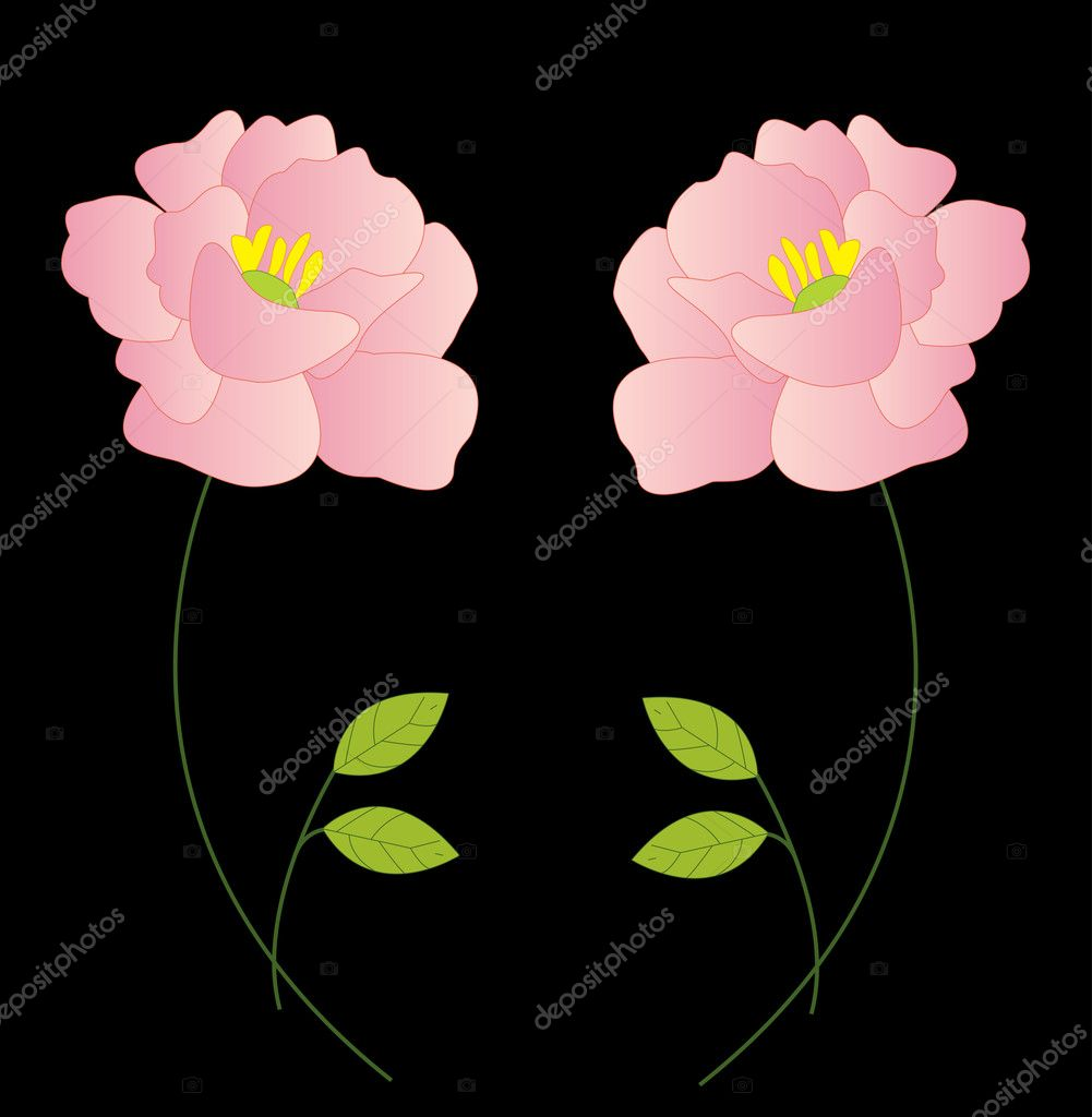 Beautiful flowers on background icon