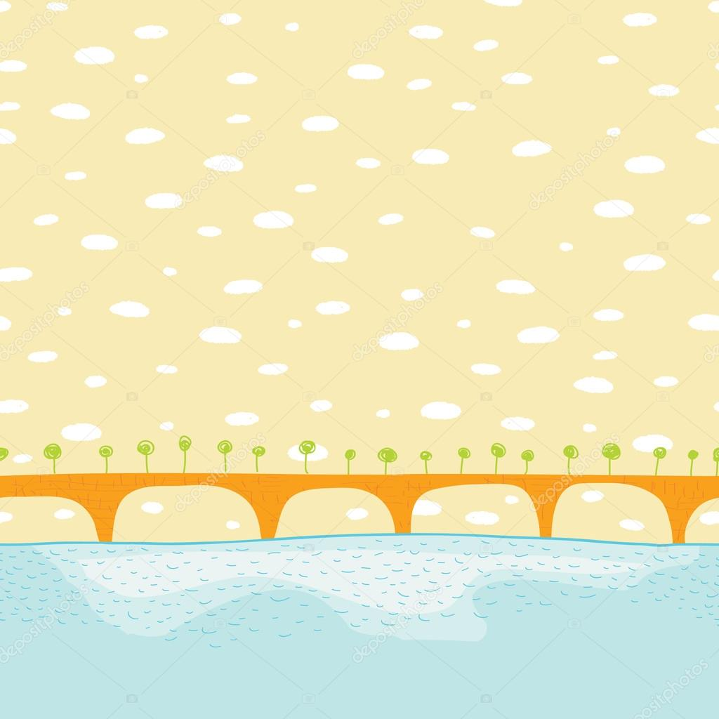 Sea bridge vector