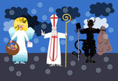 Sv. Mikuláš, čert a anděl - Česká lidová vánoční tradice