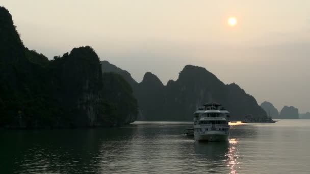 Cruise ships in the bay from Ha Long Bay