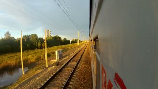 Trans-Siberian Railway speeding train