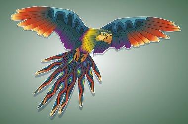 "Картина, постер, плакат, фотообои ""попугай"", артикул 47364973"