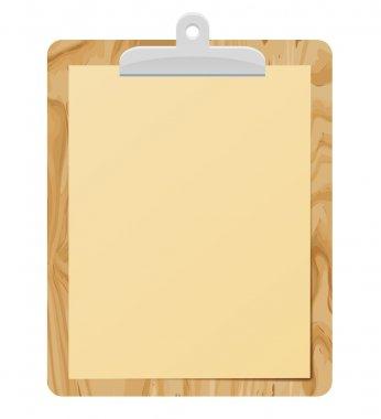 Clipboard. vector clip art stock vector