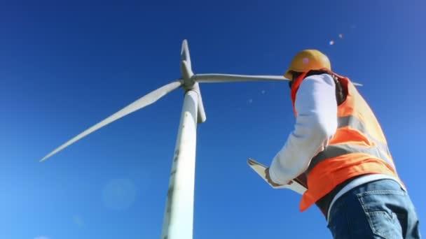 ispezione della turbina di vento