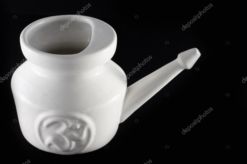 Neti Lota vessell made of white ceramic — Stock Photo