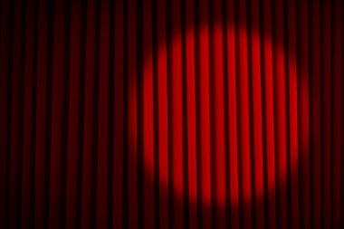 Spotlight Red Movie Curtains