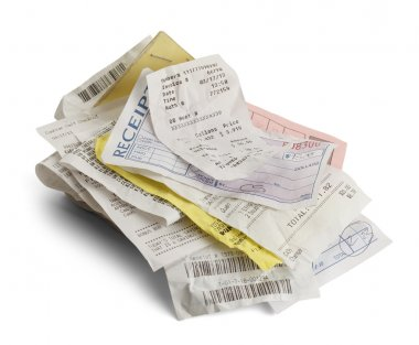 Stack of Receipts