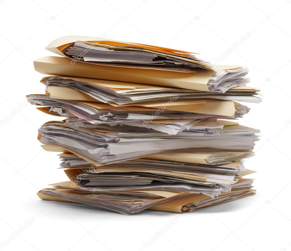 Image result for stack of files