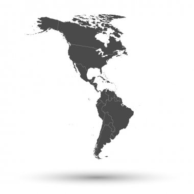 North and South America map background vector stock vector