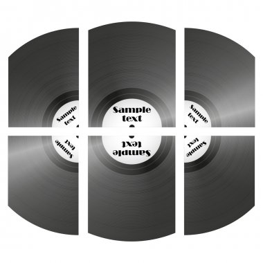 Set of retro music vinyl records