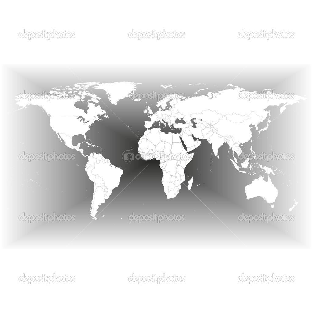 Mapa del mundo gris vector de stock raevsky 45438405 mapa del mundo gris vector de stock gumiabroncs Image collections