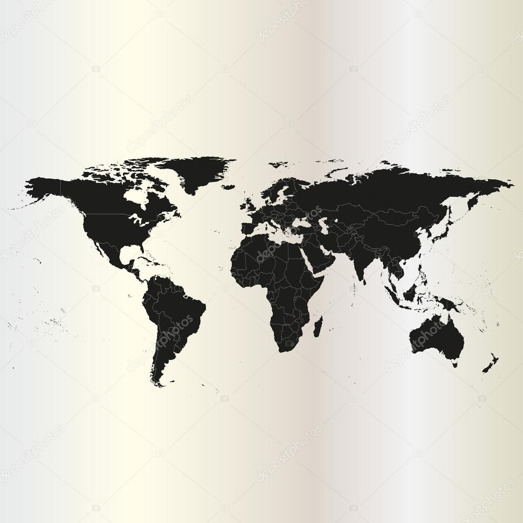 Black political world map vector de stock raevsky 45438555 black political world map vector de stock gumiabroncs Gallery