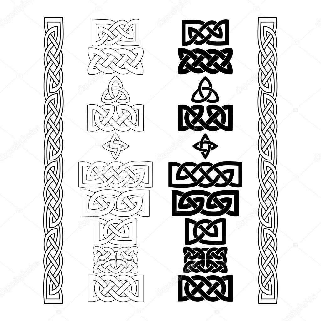 Celtic knots, patterns