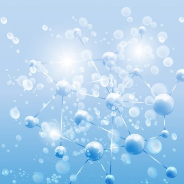Blue Abstract background, molecule structure vector illustration