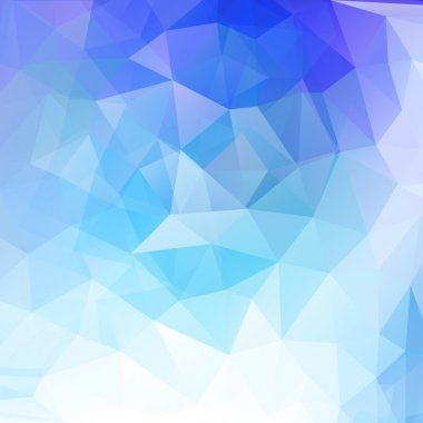 Abstract geometrical background with blue triangles vector illusttration