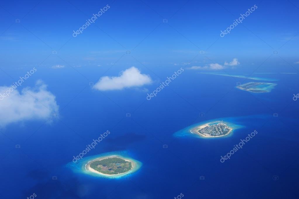 Islands in Laccadives sea