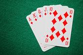 Royal straight flush carte da poker
