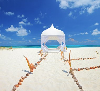Wedding tent on a beach