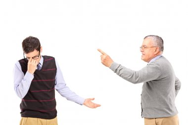 Man having an argument with upset man