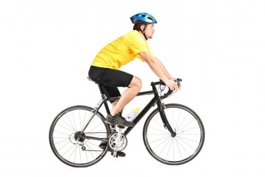 Man riding bycicle