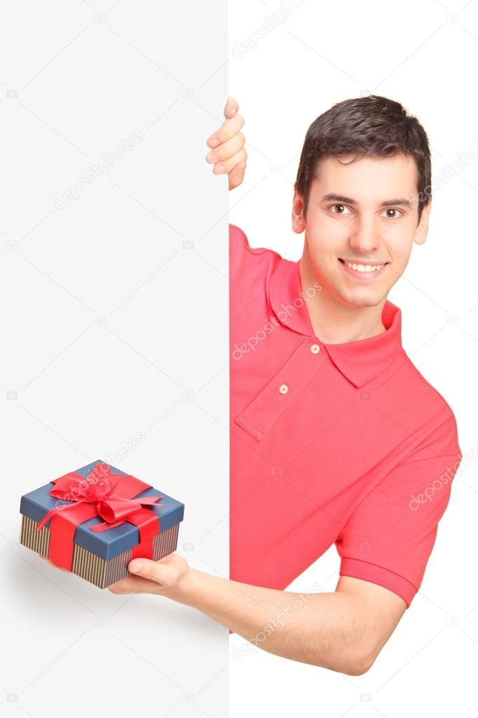 Man holding present