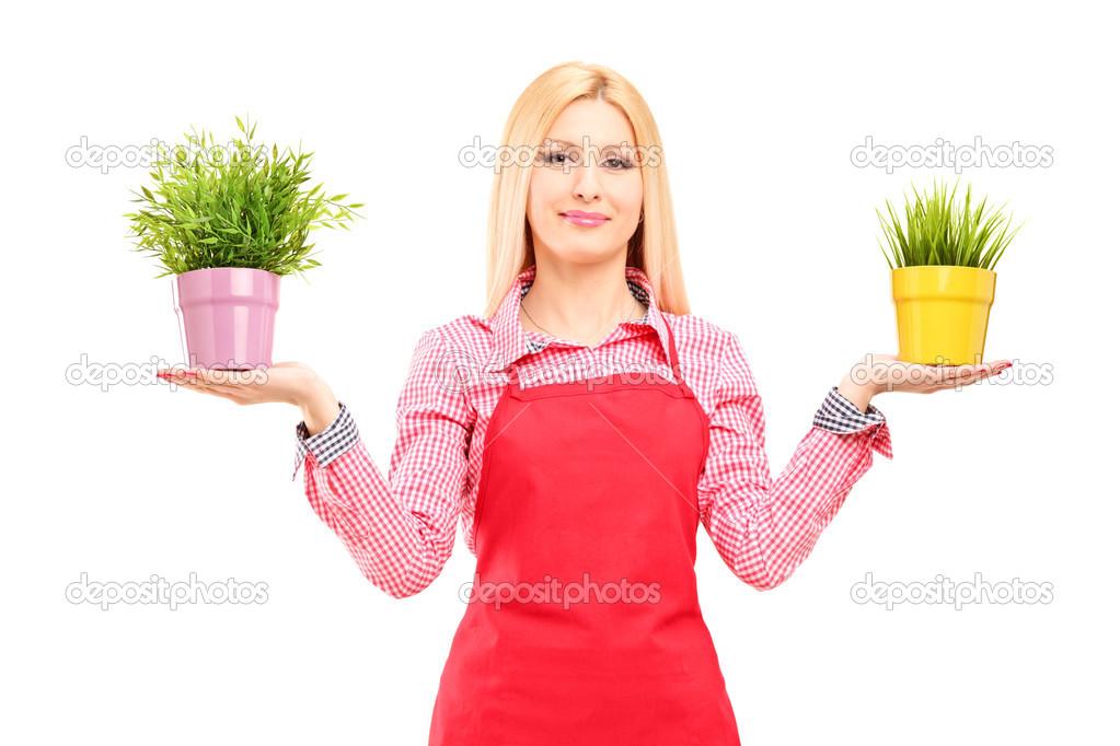 блондинка и садовник