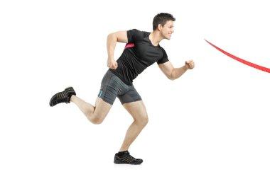Running towards finish line