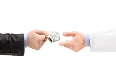 Man giving bribe to doctor