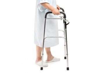 Patient using walker