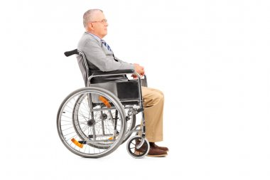Disabled senior gentleman in wheelchair