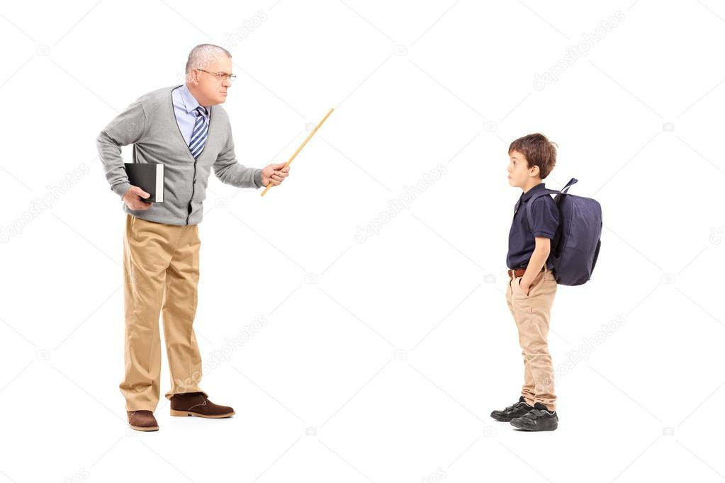 Картинка как учитель ругает ученика
