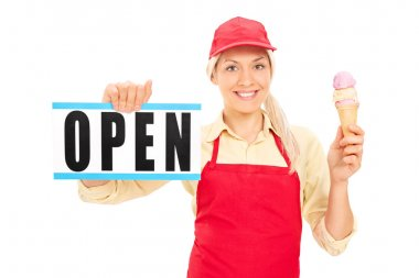 Female ice cream vendor