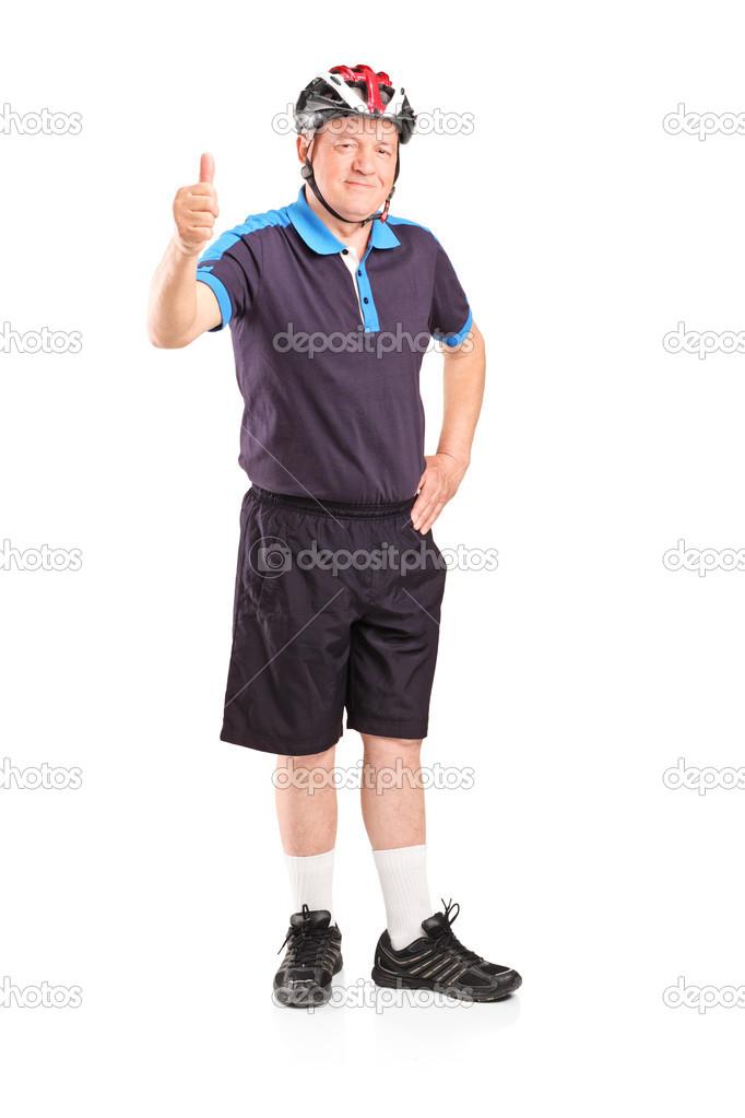 86a45b31e Hombre maduro con casco de deportes — Fotos de Stock ...